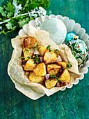 Röstkartoffeln mit Thymian zu Weihnachten