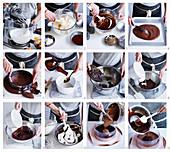 Schokoladenmousse-Torte zubereiten