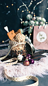 Weihnachtliches Spekulatius-Eis serviert im Schraubglas