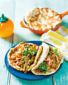 Lentil curry with flatbreads