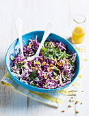 Crunchy noddle and cabbage salad