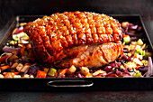 Roast pork with crackling