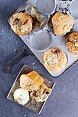 Muffins mit Eiscreme