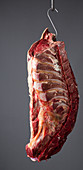 A whole saddle of beef from the collar