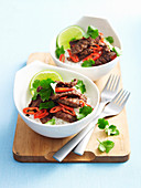 Stir-Fried Salt and Pepper Beef with Lime