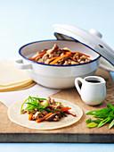 Stir-Fried Pork and Vegetable Pancakes