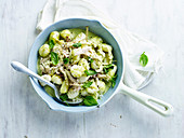 Creamy pesto chicken with gnocchi