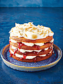 Vanilla-berry layer cake