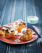 White chocolate and nougat sticky buns