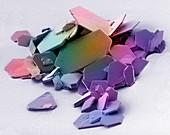 Aspirin crystals, SEM