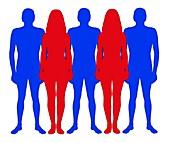 Gender identity, conceptual image