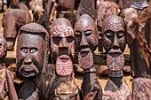 Handcrafted wooden statues