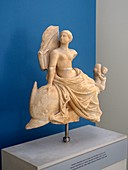 Statue of Aphrodite riding a dolphin