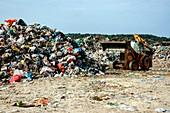 Landfill rubbish dump, Israel