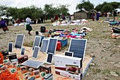 Solar panels, Maasai Market, Tanzania