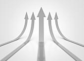 Upward arrows, illustration