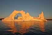 Iceberg at sunset, Greenland
