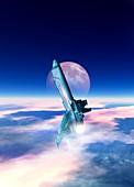 Space shuttle, illustration