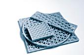 Metamaterial samples made on 3D printer
