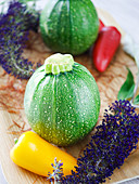 'Tondo di Piacenza' zucchini (round zucchinis)
