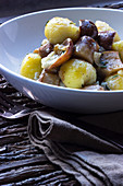 Gnocchi with porcini mushrooms and rosemary
