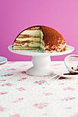 Tiramisu dome cake
