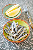 Tapas: baked anchovies (Spain)