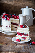 Berry jelly cake