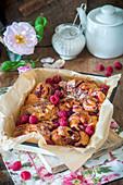 Berry swirl buns