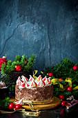 Festive Christmas cake
