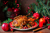 Festive roast duck for Christmas