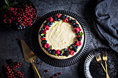 Ricotta cheesecake with summer berries
