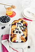Baked French toast with summer berries