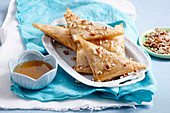 Almond filo triangles