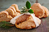 Small nut stollen cake