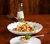 Risotto with pine nuts and dried tomatoes