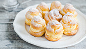 Profiteroles filled with vanilla cream