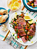 Cajun Lamb Backstraps with Four-Beam Salad