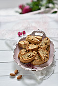 Vegan almond and date cantucci