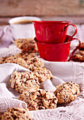 Chocolate nut cookies (Christmas cookies, Iceland)