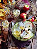 Apfel-Cidre-Bowle
