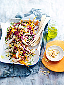 Blue Cheese, Apple and Barbecued Chicken Slaw