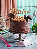 Chocolate Truffle Mint Layer Cake 'Hiteched'