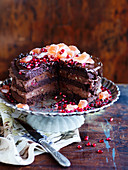 Rich Rocky Road Mousse Cake