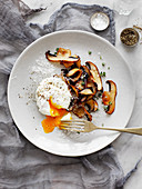 Mushrooms and Thyme with Poached Egg