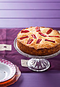 Rhubarb and Rosewater Syrup Cake