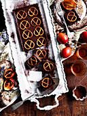 Chocolate and Pretzel Tart Bites