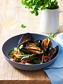 Chilli Black Bean Mussels