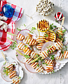 Grilled Salmon and Scallop Skewers (Christmas)