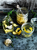 Lemon, Thyme and Honeycomb Vinegar